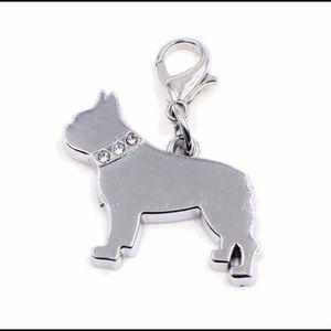 French Bulldog / Boston Terrier Zipper Pull Charm
